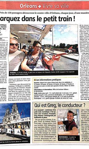 Article Orléans Journal la République du centre du 24 Août 2019